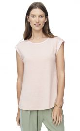 Jersey Top with Mesh at Rebecca Taylor