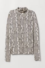 Jersey polo-neck top at H&M