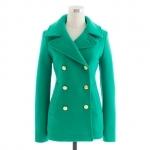 Jess Days green coat at Jcrew at J. Crew
