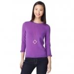 Jess Day's purple Kate Spade sweater at Kate Spade