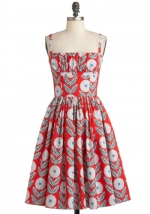 Jess Days red dress on New Girl at Modcloth