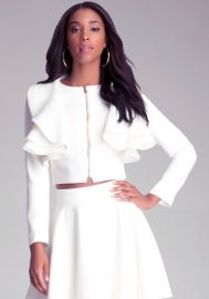 Jessica Ruffle Jacket at Bebe