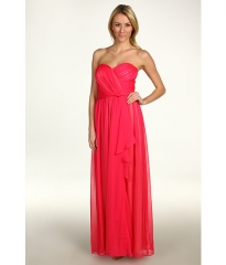 Jessica Simpson Strapless Sweetheart Cascade Ruffle Gown Cabaret Pink at 6pm