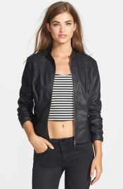 Jessica Simpson and39Deanand39 Faux Leather Moto Jacket at Nordstrom