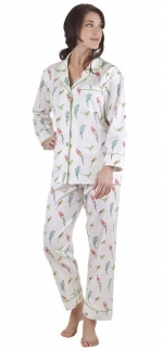 Jess's parrot pajamas by Bedhead at Amazon