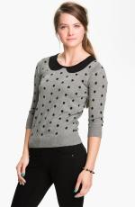 Jess's polka dot Frenchi sweater at Nordstrom at Nordstrom