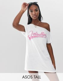 Jetsetter Off Shoulder Jersey Beach Tee by ASOS at ASOS