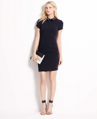Jewel Collar Shift Dress at Ann Taylor