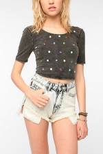 Jewel studded crop top at Urban Outfitters at Urban Outfitters