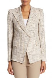 Jezebel Peak Lapel Metallic Tweed Jacket at Nordstrom Rack