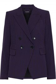 Jezebel double-breasted checked twill blazer at The Outnet