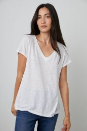 Jilian V Neck Tee by Velvet at Velvet