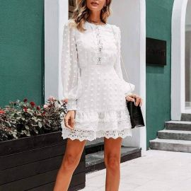 Jillian Lace Mini Dress at Sonja