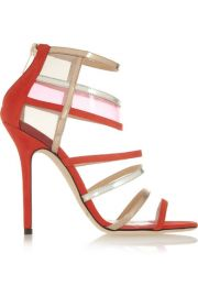 Jimmy Choo   Maitai suede and Perspex sandals at Net A Porter