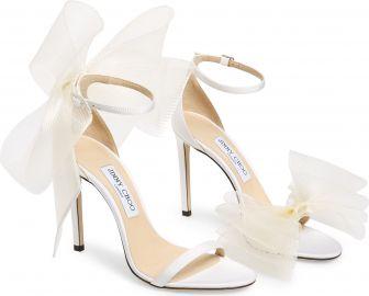Jimmy Choo Aveline Bow Ankle Strap Sandal  Women    Nordstrom at Nordstrom