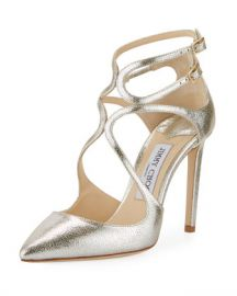 Jimmy Choo Lancer Metallic Leather Pumps at Neiman Marcus