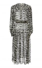 Jina Animal-Print Chiffon Midi Dress at Moda Operandi