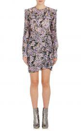 Jirvina Ruffle Floral Crepe Dress isabel marant at Barneys