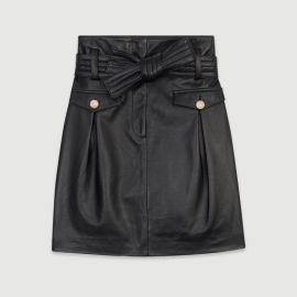 Jivac Leather Skirt at Maje