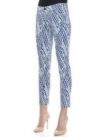 Joes Jeans Geometric Print  High Water  Skinny Jeans at Neiman Marcus