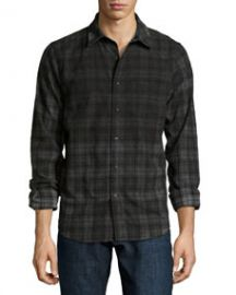 Joes Jeans Plaid Flannel Sport Shirt BlackCharcoal at Last Call