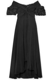 Johanna Ortiz   Maria Felix off-the-shoulder silk midi dress at Net A Porter
