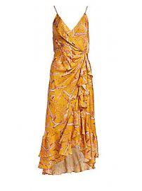 Johanna Ortiz - Milagro de Miel Wrap-Effect Dress at Saks Fifth Avenue