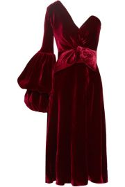 Johanna Ortiz   Sabina one-shoulder velvet dress at Net A Porter