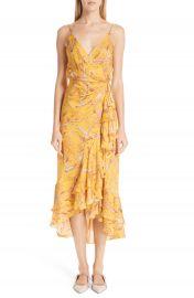 Johanna Ortiz Daffodil Print Silk Midi Dress   Nordstrom at Nordstrom
