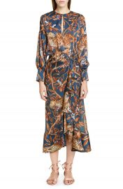 Johanna Ortiz Jaguar Print Georgette Midi Dress   Nordstrom at Nordstrom