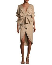 Johanna Ortiz Patagonia Poplin Trench Dress  Khaki at Neiman Marcus