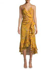 Johanna Ortiz Sleeveless Floral-Print Ruffled Georgette Wrap Dress at Bergdorf Goodman