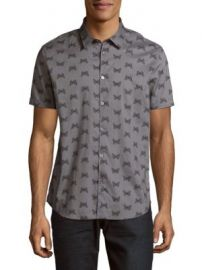 John Varvatos - Butterfly Print Cotton Casual Button Down Shirt at Saks Off 5th
