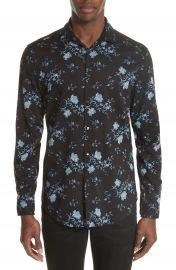 John Varvatos Collection Slim Fit Floral Print Sport Shirt at Nordstrom