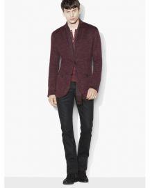 John Varvatos Linen Metallic Sweater Jacket at Spring