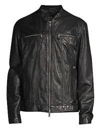 John Varvatos Star U S A  - Zip-Front Leather Jacket at Saks Fifth Avenue