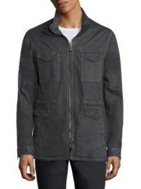 John Varvatos Star USA - Zip-Front Hooded Jacket at Saks Fifth Avenue
