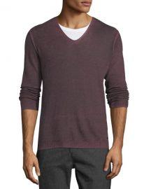John Varvatos Star USA Men  x27 s Reverse-Seam Sweater at Neiman Marcus