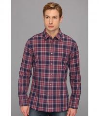 John Varvatos Star USA Plaid Collar Sport Shirt W184Q1B Violet at 6pm