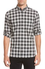 John Varvatos Star USA Trim Fit Check Sport Shirt at Nordstrom