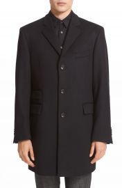 John Varvatos Star USA Trim Fit Wool   Cashmere Peacoat at Nordstrom