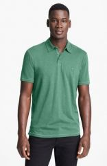 John Varvatos Star USA and39Peaceand39 Slub Cotton Polo in green at Nordstrom