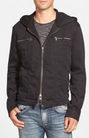 John Varvatos Star USAand160Hooded Denim Jacket at Nordstrom