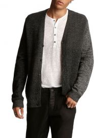 John VarvatosMen s Herringbone Easy-Fit Cardigan at Neiman Marcus