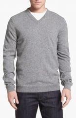 John W Nordstrom V-Neck Cashmere Sweater in grey at Nordstrom