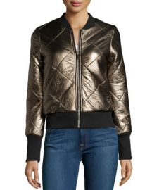 John and Jenn Metallic Quilted Jacket at Last Call