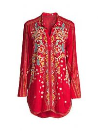 Johnny Was - Lyndsey Embroidered Tunic at Saks Fifth Avenue