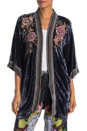 Johnny Was   Quito Floral Peacock Embroidered Velvet Kimono   Nordstrom Rack at Nordstrom Rack