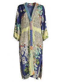 Johnny Was - Wasabi Printed Silk Kimono at Saks Fifth Avenue