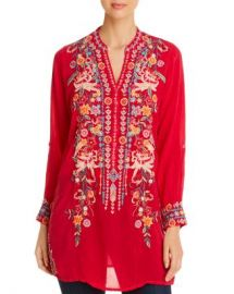 Johnny Was Annette Embroidered Tunic Top Women - Bloomingdale s at Bloomingdales